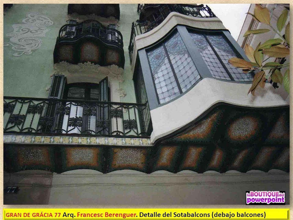 FRANCESC D'ASSÍS BERENGUER I MESTRES Reus 21/7/1866 – Barcelona 8/2/1914) fue un arquitecto modernista. Discípulo y colaborador de Antoni Gaudí, Fue e