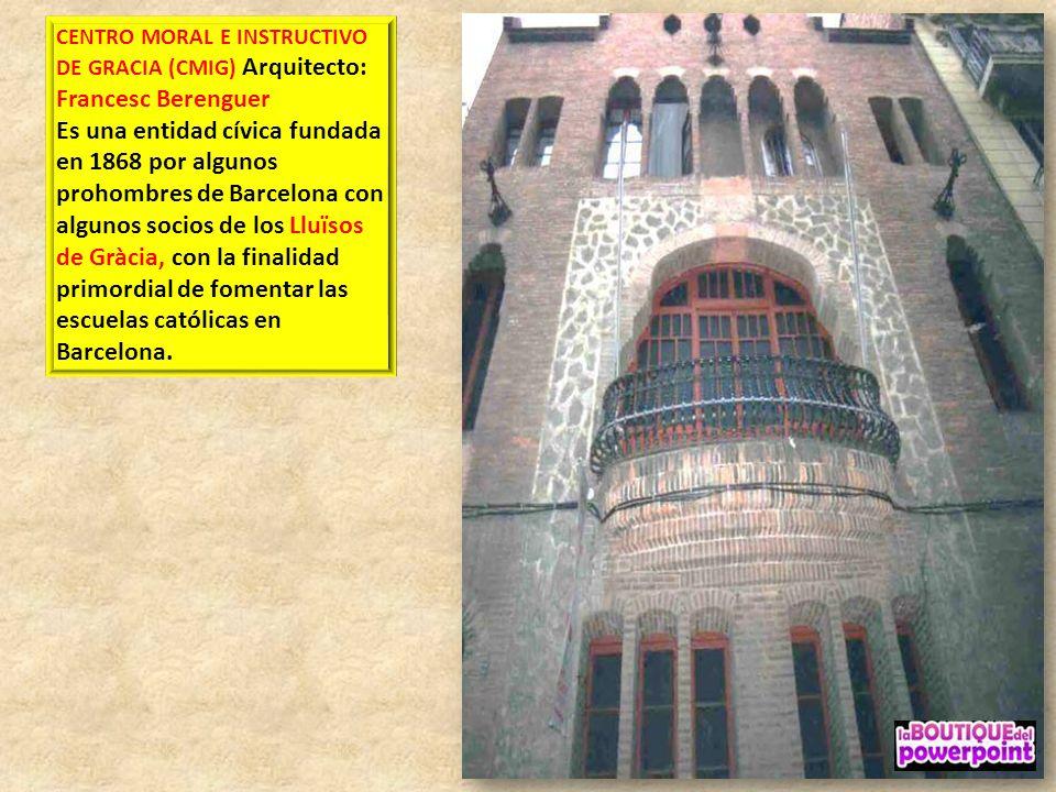 ORATORI SANT FELIP DE NERI 1888-1910 estilo Historicismo Arq. Josep Artigas Ramoneda obra neobarroca está inspirada en la Iglesia de Sant Felip de Ner
