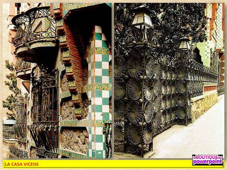 LA CASA VICENS es un edificio modernista, siendo el primer proyecto de importancia del arquitecto Antoni Gaudí tras su licenciatura como arquitecto en