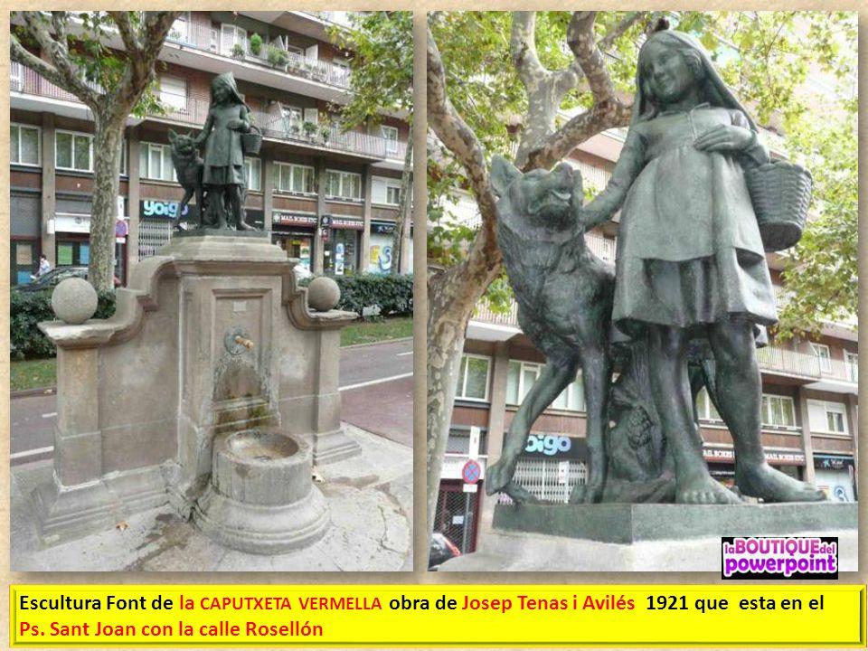 FONT D'HÈRCULES EL PASSEIG DE SANT JOAN Muestra la figura de Hércules sobre un pedestal, flanqueado por dos leones. En el frontal hay un medallón de m