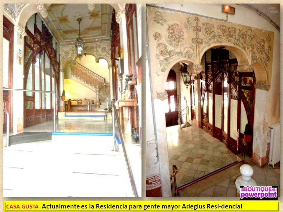 CASA GUSTA 1907 – 1910 Estilo Modernista Autor: Jaime Gusta y Bondia. Casa para vivienda del propio arquitecto