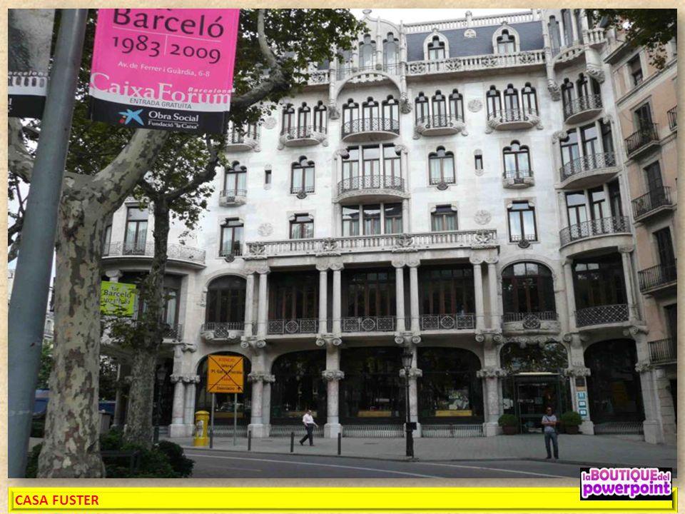 CASA FUSTER Arquitecto Lluís Doménech i Montaner. Actualmente, la Casa Fuster funciona como Hotel y ha sido declarado Hotel-Monumento. Edificio constr
