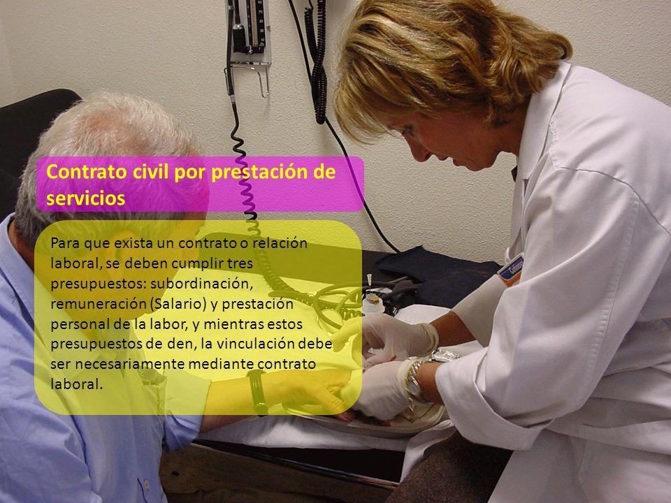 Un contrato de servicios no supone las mismas condiciones ni requisitos de un contrato laboral.
