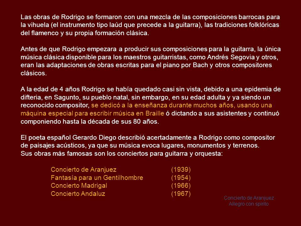 Joaquín Rodrigo (1901-1999) Compositor español, pianista y maestro de música, aclamado mundialmente por haber creado los mejores conciertos para guitarra y orquesta de todos los tiempos.