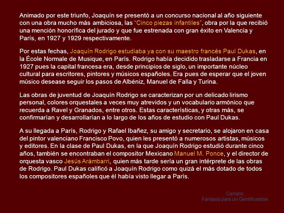 En cuanto a la cultura literaria de que hizo gala Rodrigo a lo largo de su vida, se debió en gran parte a las lecturas de Rafael Ibáñez, empleado por la familia para acompañar a Joaquín, quien también fue su compañero, secretario y copista en los años siguientes.