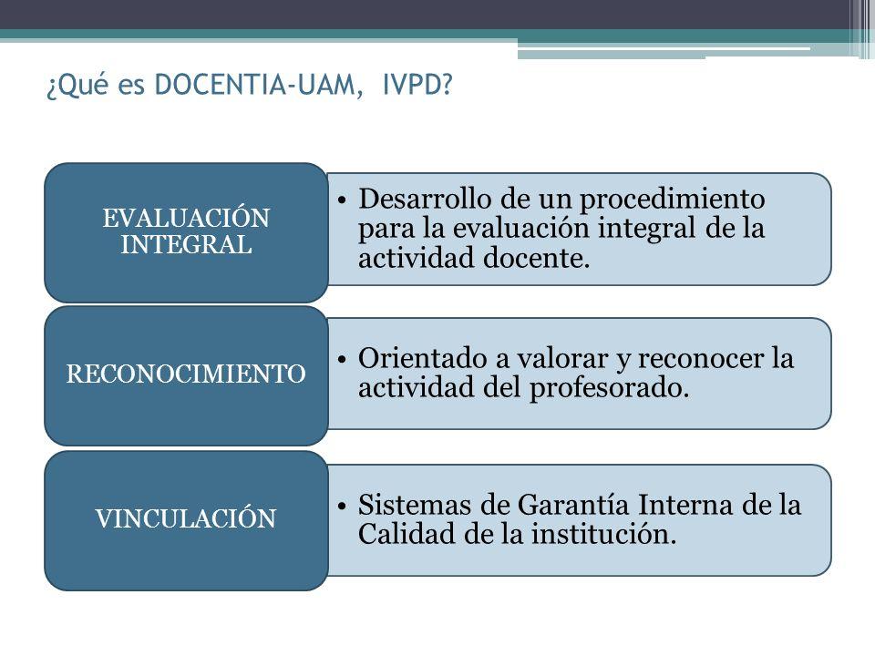 ¿Qué es DOCENTIA-UAM, IVPD