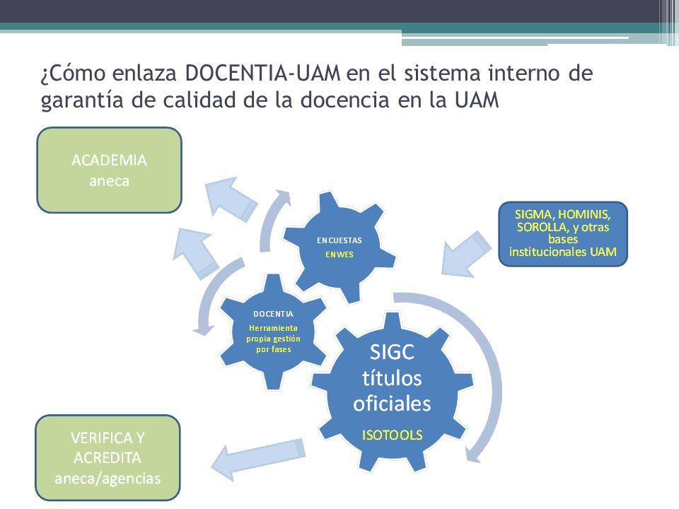 Objetivos del programa DOCENTIA-UAM