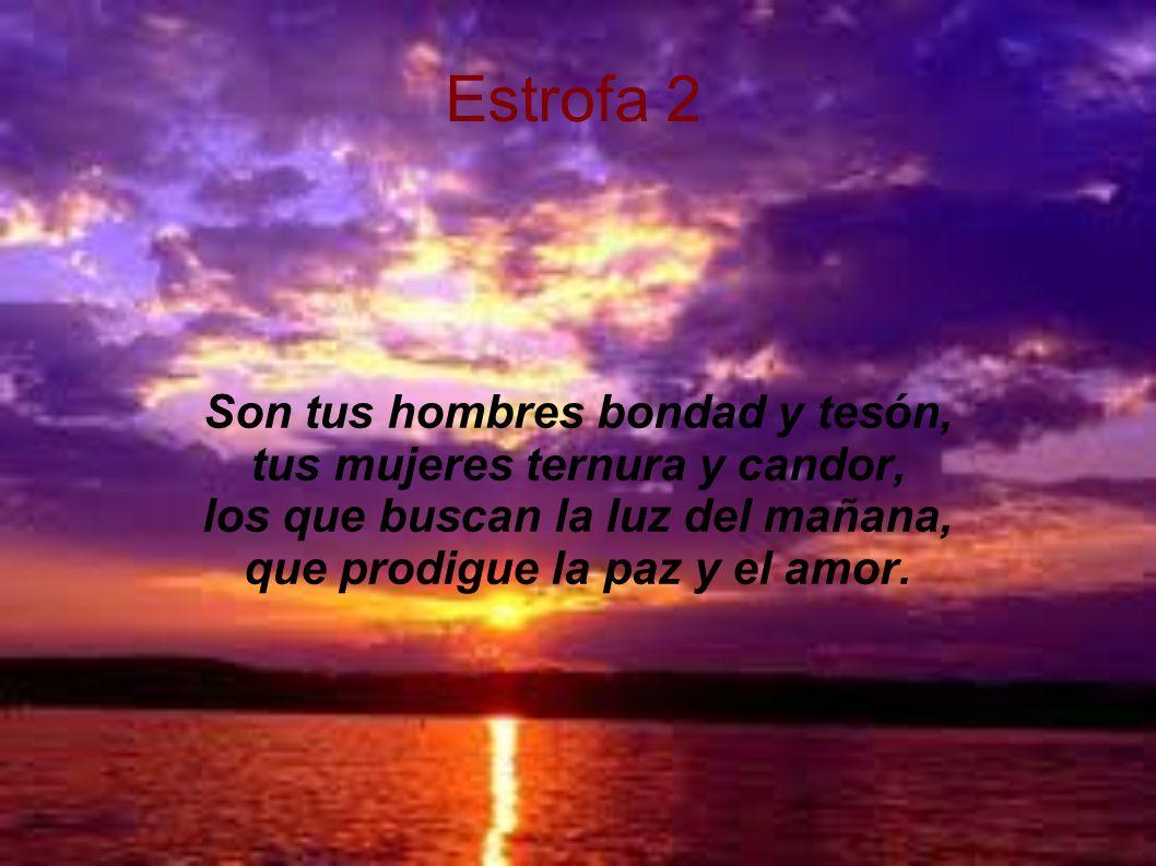 estribillo Casanare, Casanare; dios bendiga tu gran población, a tus ríos y tus tierras, tus riquezas, tu bello folclor.
