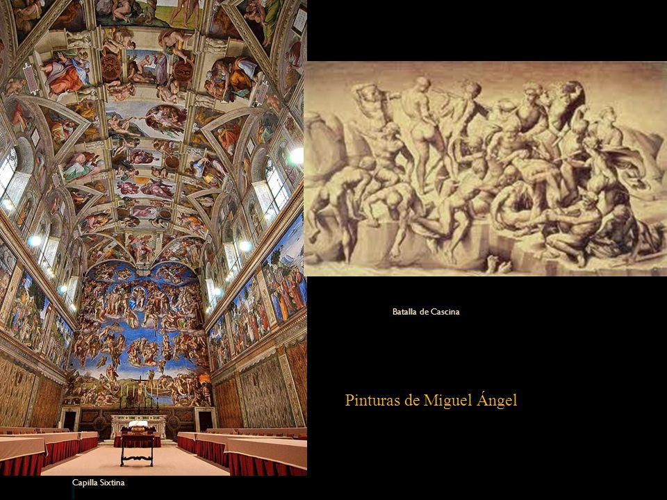 Capilla Sixtina Batalla de Cascina Pinturas de Miguel Ángel