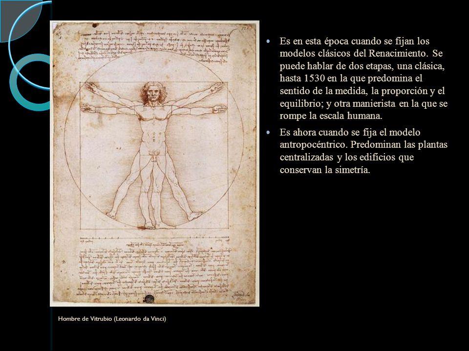 Es en esta época cuando se fijan los modelos clásicos del Renacimiento.