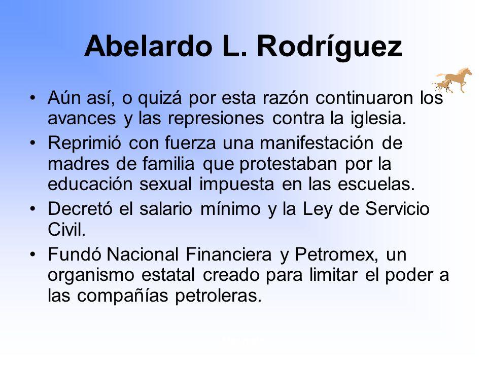 Maximato Abelardo L.