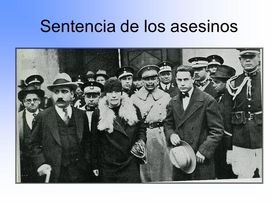 Maximato Sentencia de los asesinos.