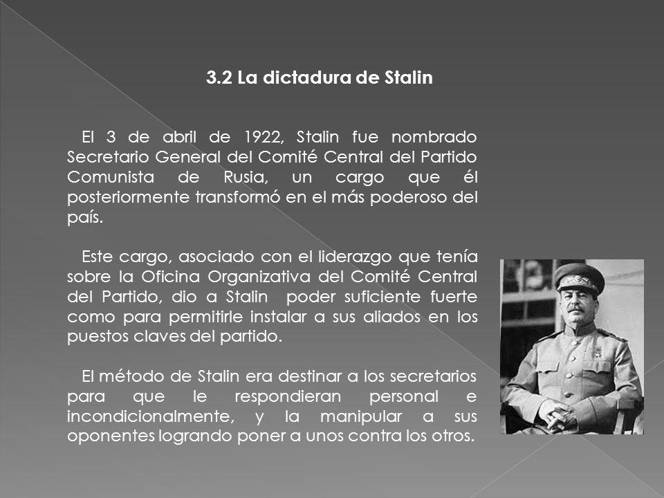 3.Periodo estalinista 3.1 Quien es Stalin Fue Presidente del Consejo de Ministros de la Unión Soviética desde 6 de mayo de 1941 hasta el 5 de marzo de