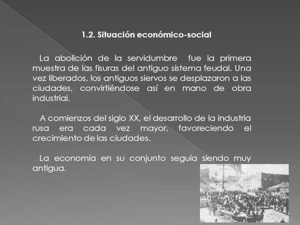 La abolición de la servidumbre fue la primera muestra de las fisuras del antiguo sistema feudal.