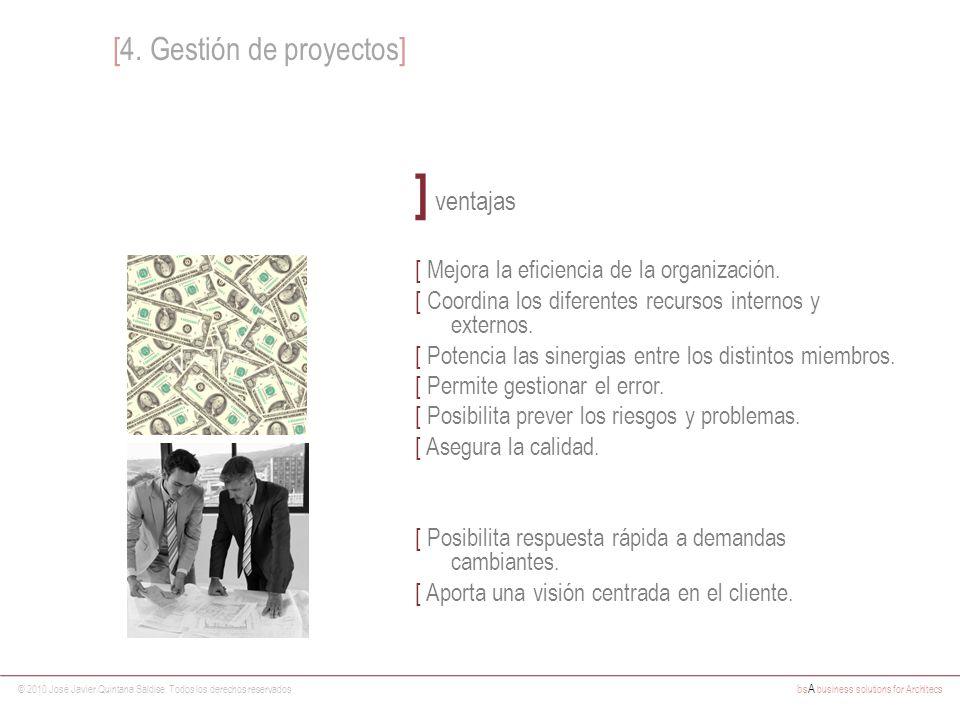 © 2010 José Javier Quintana Saldise. Todos los derechos reservados bs A business solutions for Architecs ] ventajas [ Mejora la eficiencia de la organ