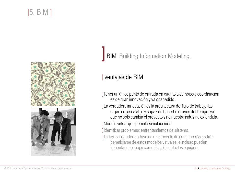 © 2010 José Javier Quintana Saldise. Todos los derechos reservados bs A business solutions for Architecs ] BIM. Building Information Modeling. [ venta