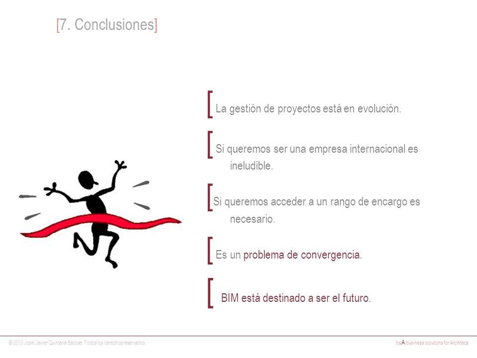 © 2010 José Javier Quintana Saldise. Todos los derechos reservados bs A business solutions for Architecs [ La gestión de proyectos está en evolución.