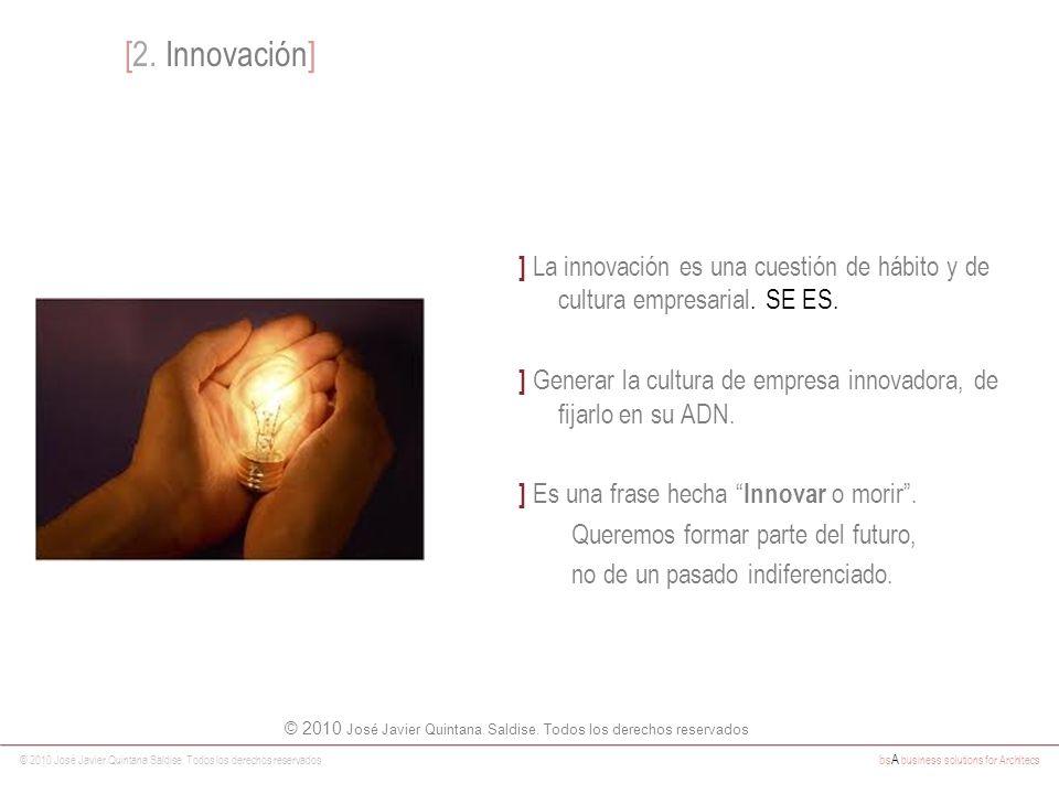 © 2010 José Javier Quintana Saldise. Todos los derechos reservados bs A business solutions for Architecs ] La innovación es una cuestión de hábito y d