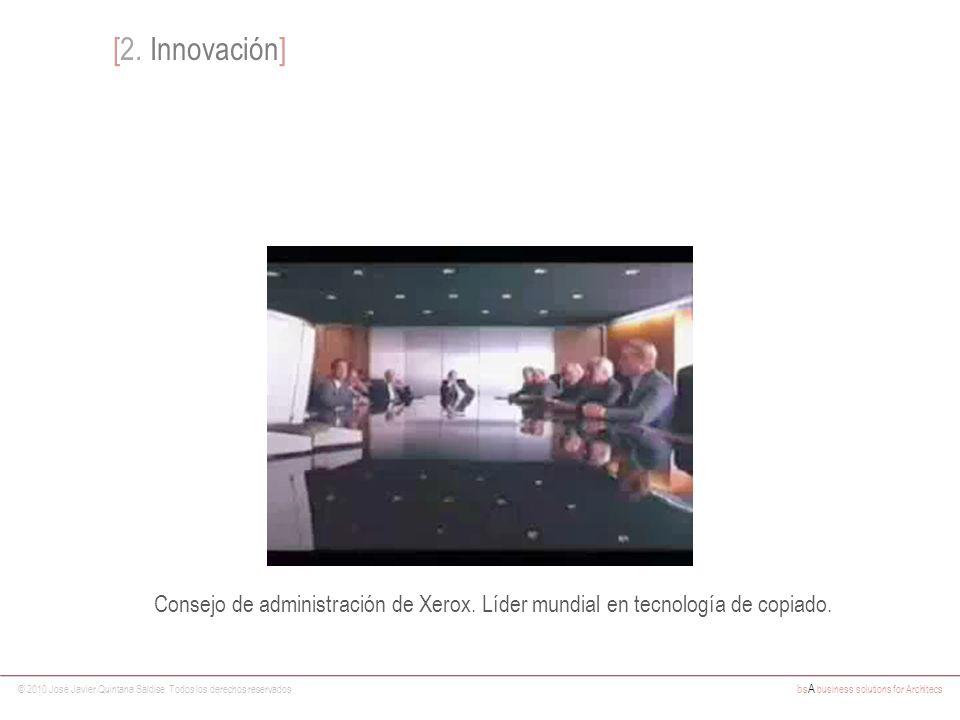 © 2010 José Javier Quintana Saldise. Todos los derechos reservados bs A business solutions for Architecs [2. Innovación] Consejo de administración de