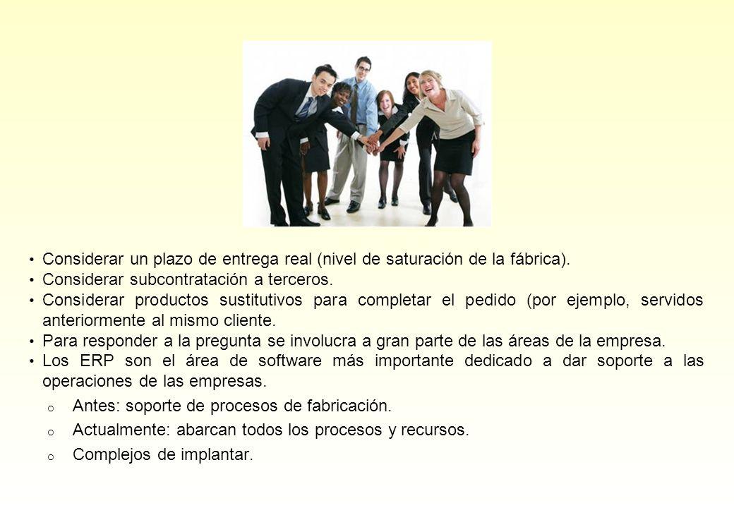 Algunos ejemplos prácticos (Empresa Industrial) Situación inicial Intensivo en personal y control analítico.