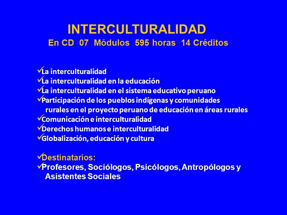 La interculturalidad La interculturalidad en la educación La interculturalidad en el sistema educativo peruano Participación de los pueblos indígenas