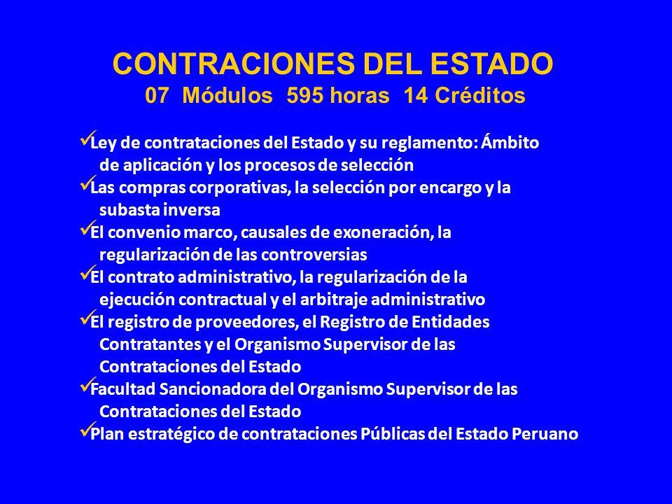 Ley de contrataciones del Estado y su reglamento: Ámbito de aplicación y los procesos de selección Las compras corporativas, la selección por encargo
