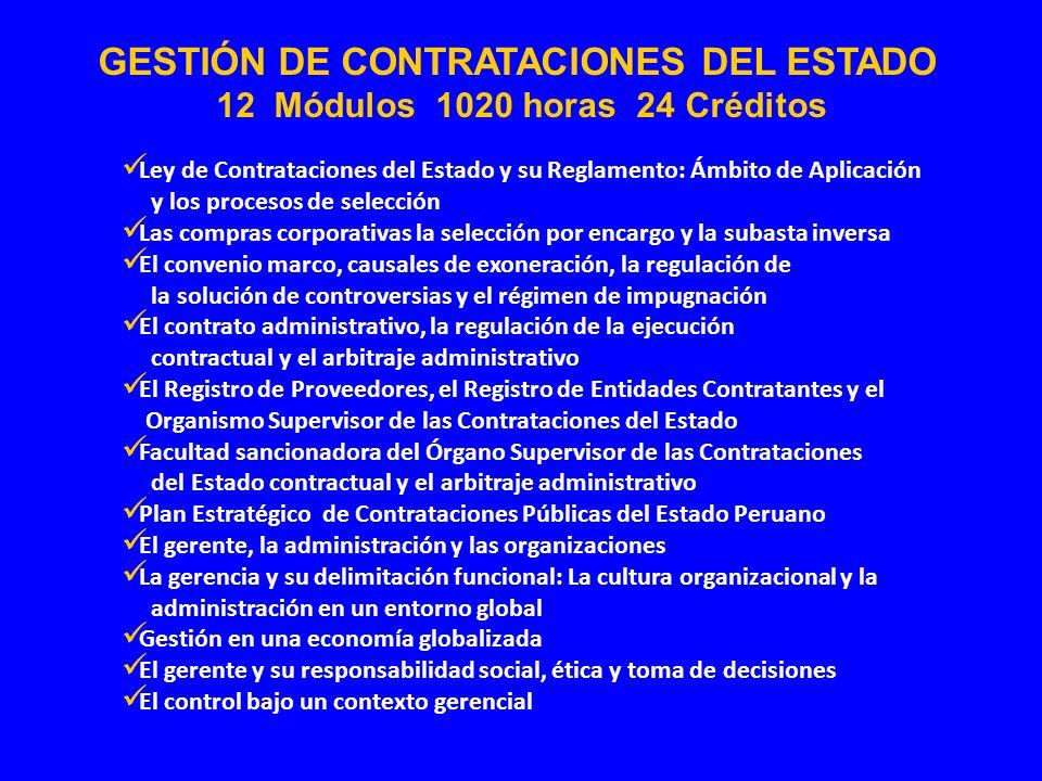 Ley de Contrataciones del Estado y su Reglamento: Ámbito de Aplicación y los procesos de selección Las compras corporativas la selección por encargo y