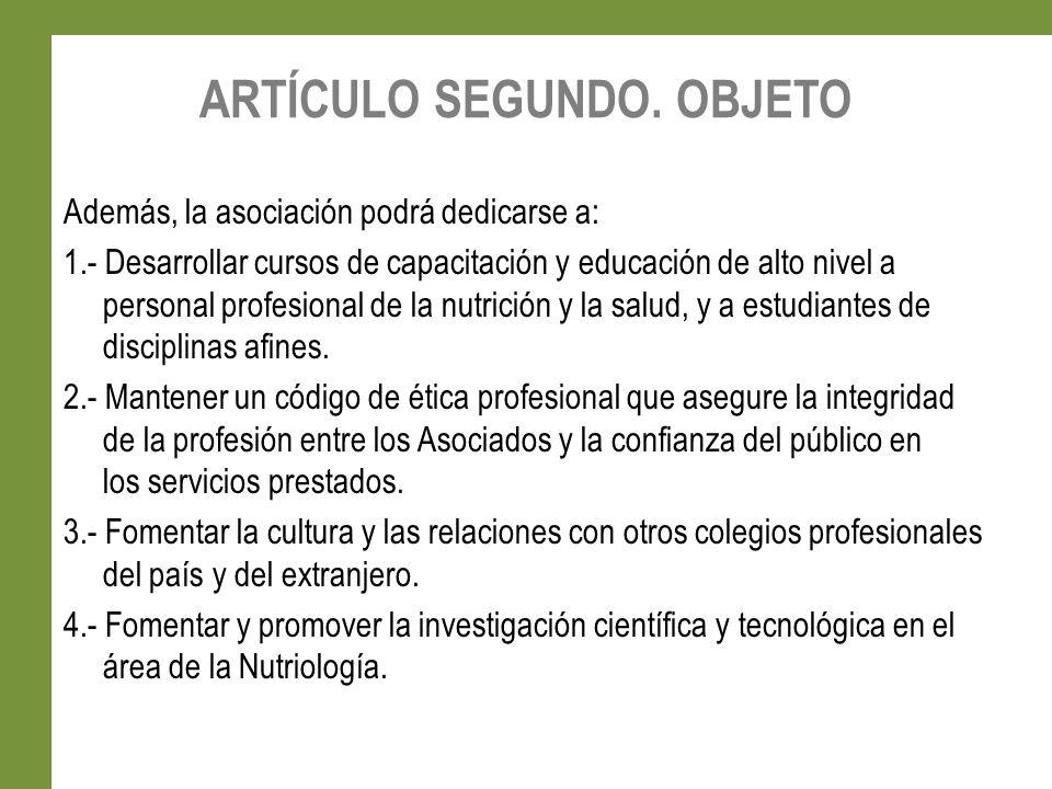 CAPÍTULO SEGUNDO.DE LOS ASOCIADOS ARTICULO OCTAVO.- La calidad de asociado es intransferible.
