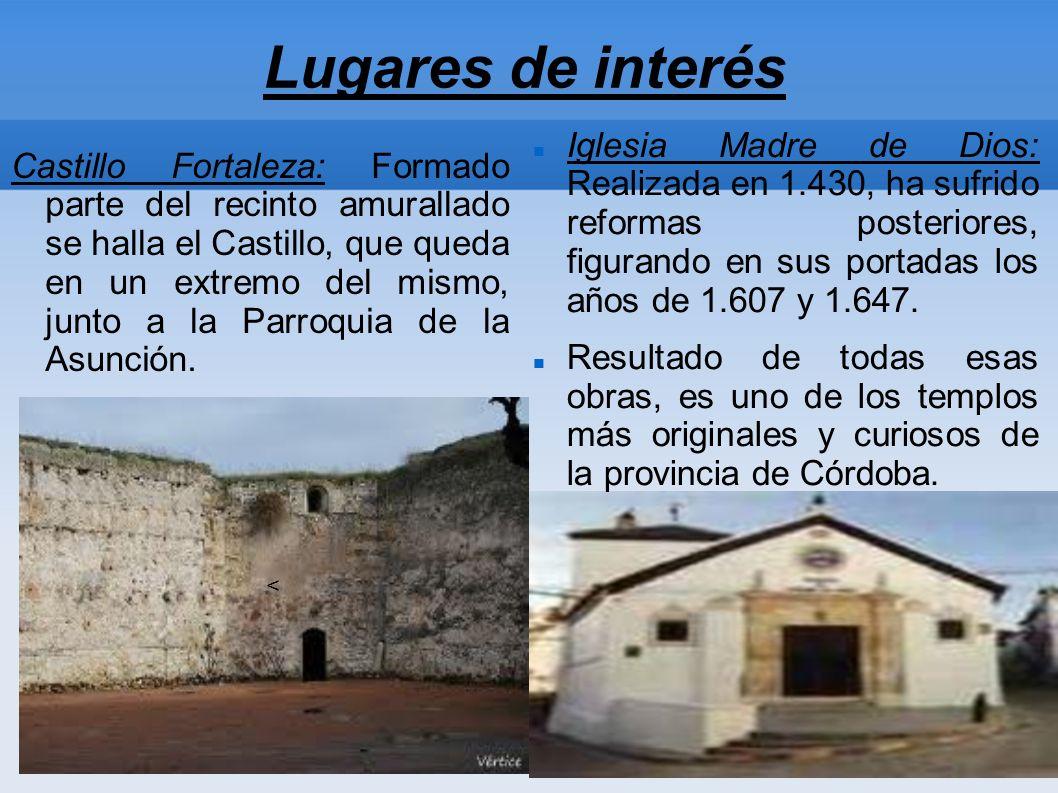 Lugares de interés Castillo Fortaleza: Formado parte del recinto amurallado se halla el Castillo, que queda en un extremo del mismo, junto a la Parroquia de la Asunción.