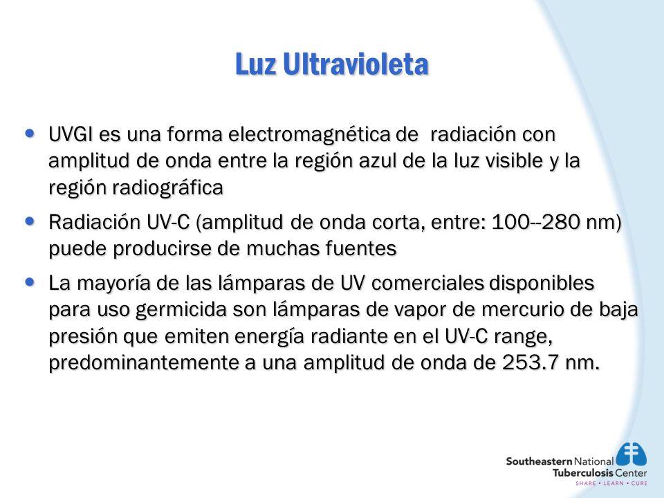UVGI es una forma electromagnética de radiación con amplitud de onda entre la región azul de la luz visible y la región radiográfica UVGI es una forma