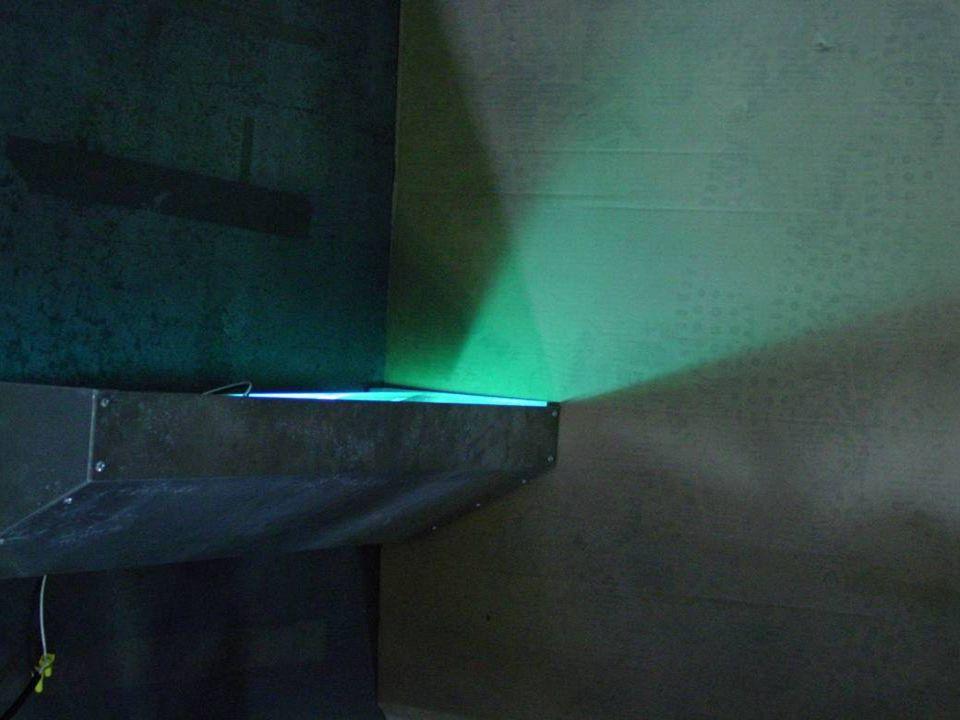 Los usos de Radiación de la parte Superior de los Cuartos Los ingenieros deben de considerar el sistema de ventilación mecánica, geometría del cuarto, y la características de la lámpara.