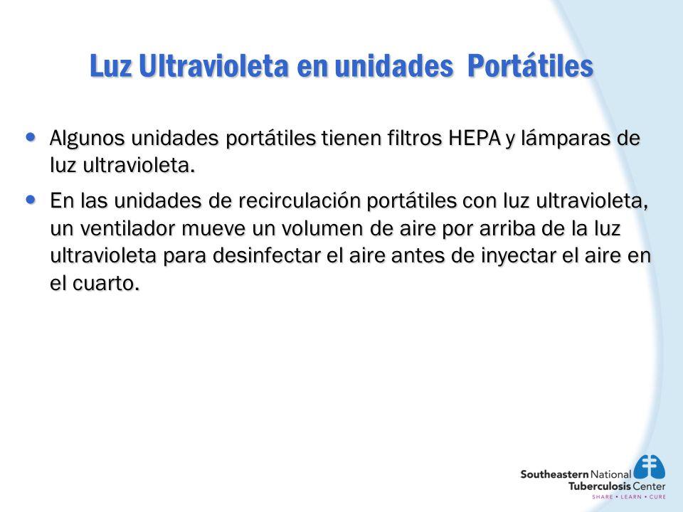 Luz Ultravioleta en unidades Portátiles Algunos unidades portátiles tienen filtros HEPA y lámparas de luz ultravioleta. Algunos unidades portátiles ti