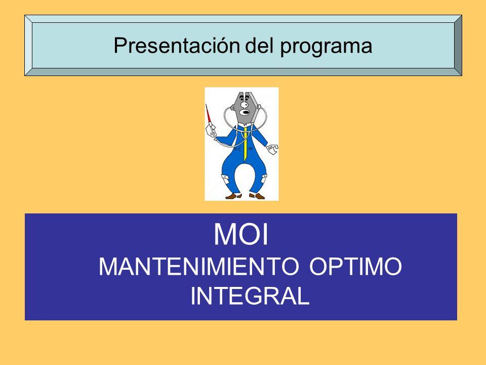 MOI MANTENIMIENTO OPTIMO INTEGRAL Presentación del programa