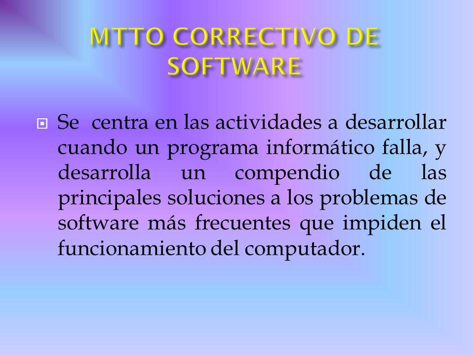 Se centra en las actividades a desarrollar cuando un programa informático falla, y desarrolla un compendio de las principales soluciones a los problem