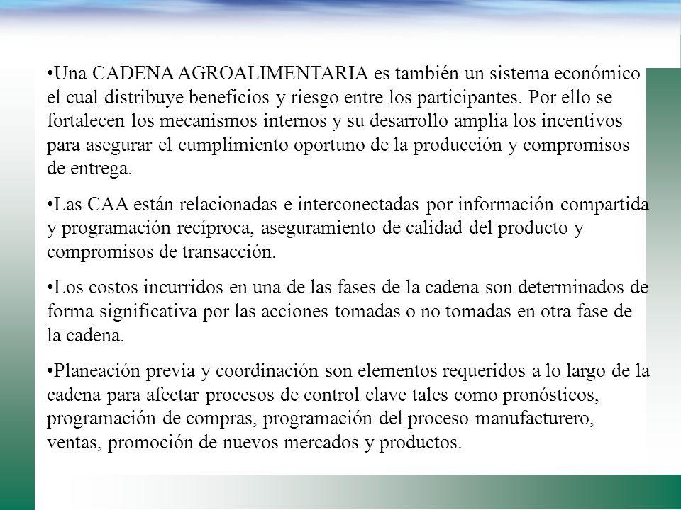 Las CAA son formas de organización industrial, las cuales permiten que los compradores y vendedores, separados por tiempo y espacio, progresivamente a