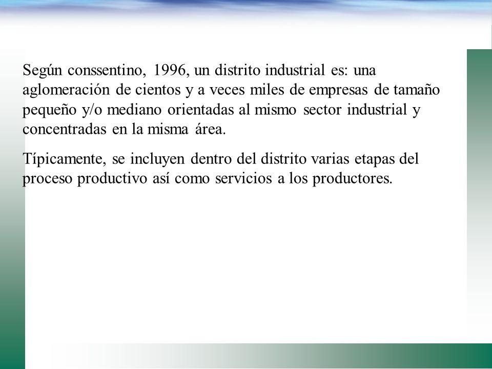 Que es un distrito industrial? De acuerdo a Humprey y Schmitz, en el sentido que dicho término se utiliza en italia: es una estructura que surge cuand