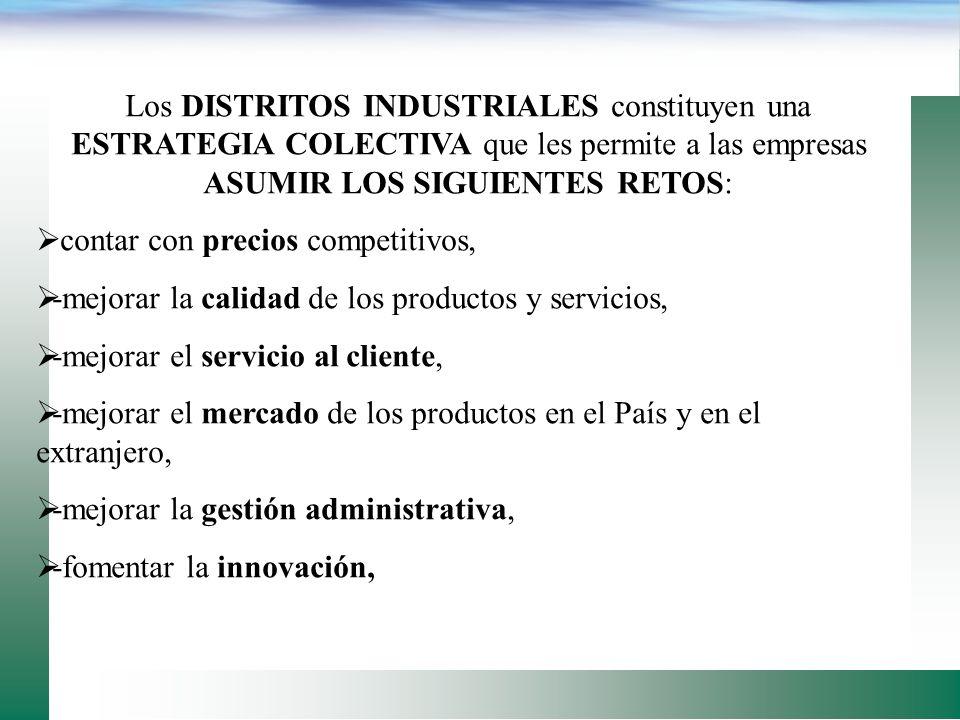 En el CASO DE ITALIA existe un denominador común en los distritos industriales: la presencia de un continuo dinamismo, el cual puede caracterizarse a