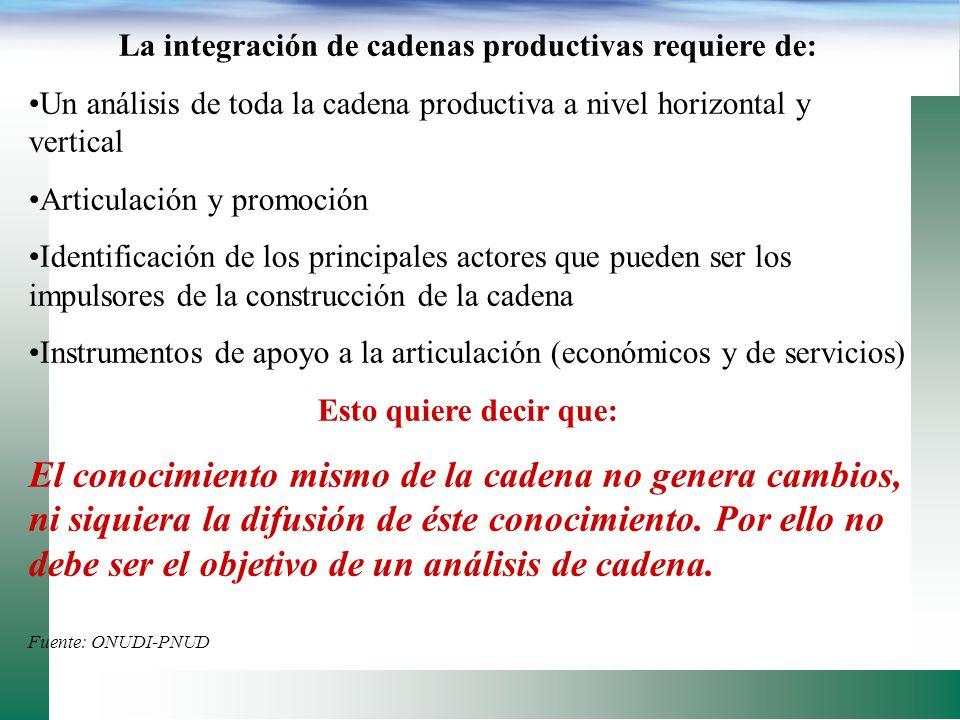 Hoy en día la competencia es de cadenas; el manejo coordinado e integrado es la clave del éxito comercial información Consumidor Minoristas Inversión