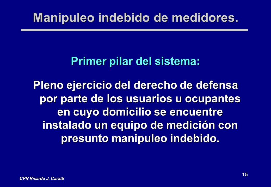15 CPN Ricardo J. Caratti Manipuleo indebido de medidores.