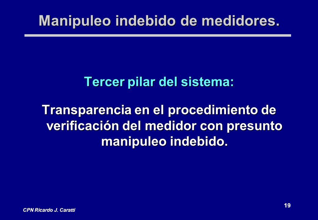 19 CPN Ricardo J. Caratti Manipuleo indebido de medidores.