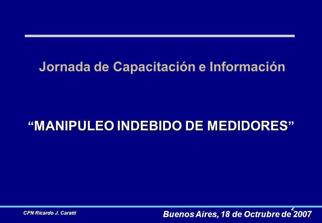 13 CPN Ricardo J.Caratti Manipuleo indebido de medidores.