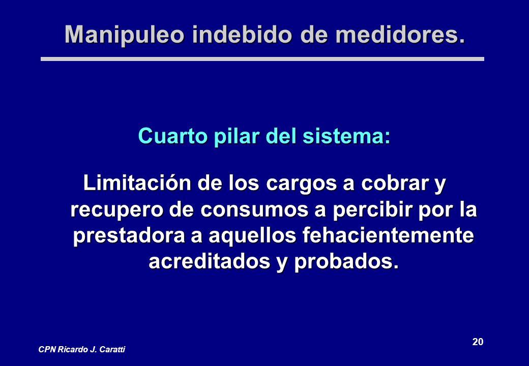 20 CPN Ricardo J. Caratti Manipuleo indebido de medidores.