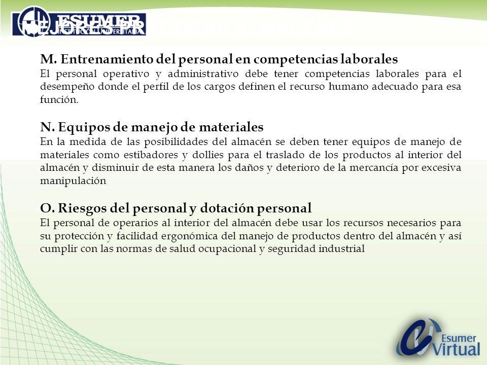 MEJORES PRACTICAS ALMACENES M.