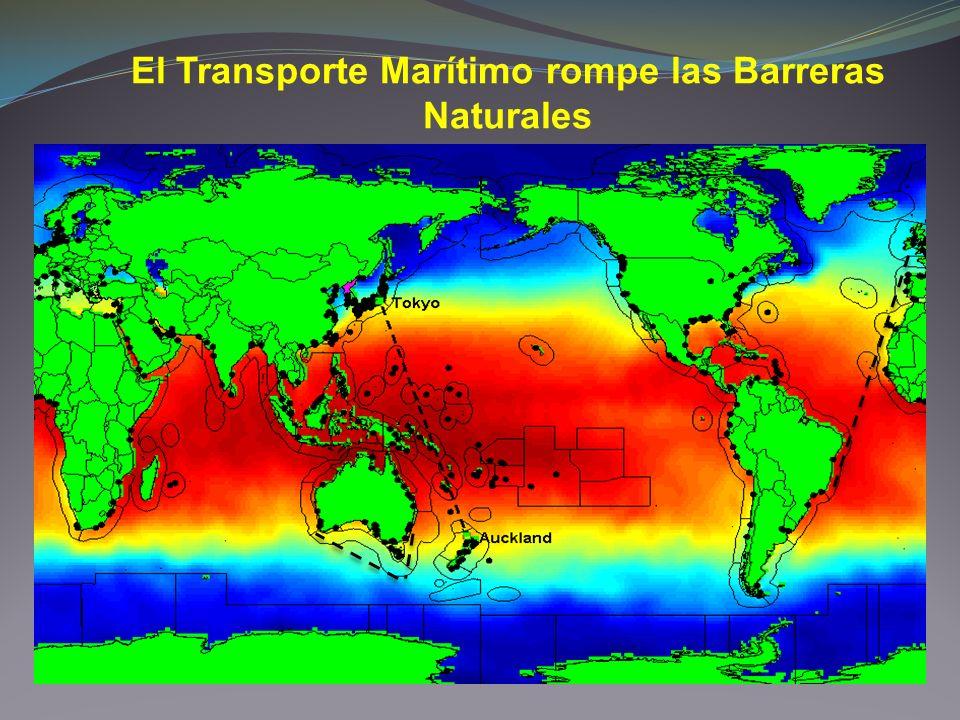 El Transporte Marítimo rompe las Barreras Naturales