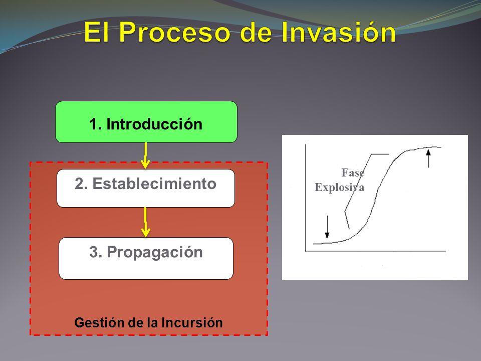 1. Introducción 2. Establecimiento 3. Propagación Fase Explosiva Gestión de la Incursión