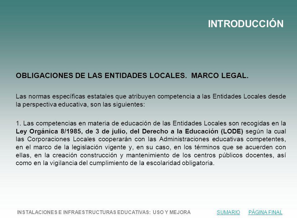 OBLIGACIONES DE LAS ENTIDADES LOCALES.MARCO LEGAL.
