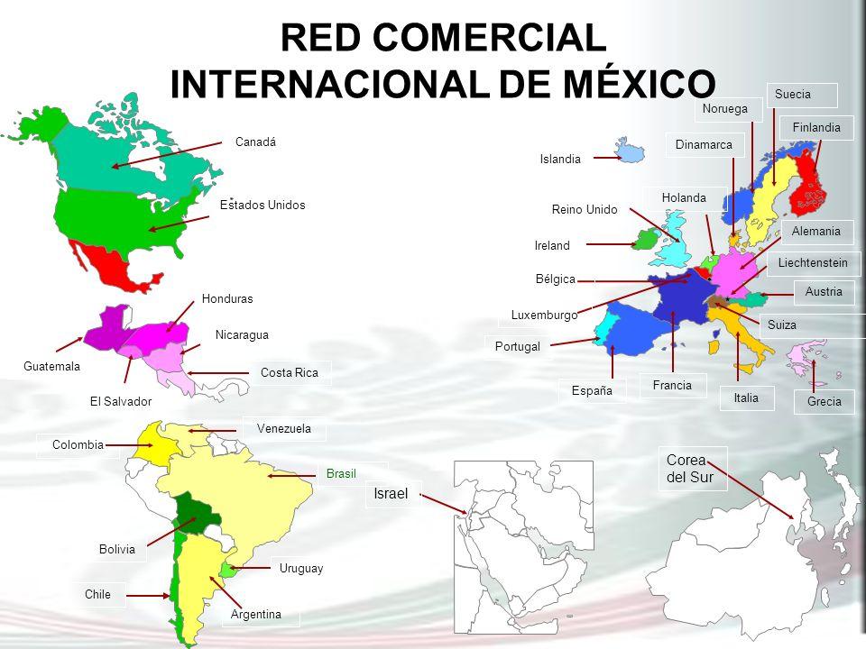 El Salvador Costa Rica Nicaragua Honduras Guatemala Israel Canadá Estados Unidos Corea del Sur Chile Argentina Bolivia Venezuela Colombia Uruguay Port
