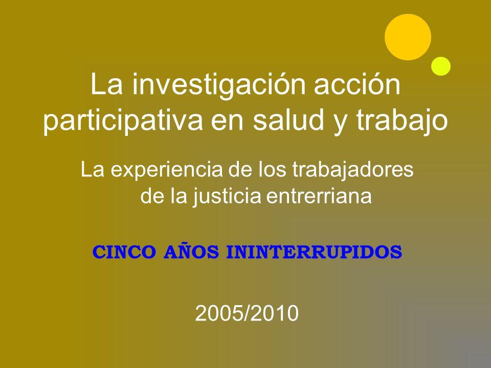 2005 Firma convenio con el Area de Salud y Trabajo de la UNR Nace el ASyT AJER