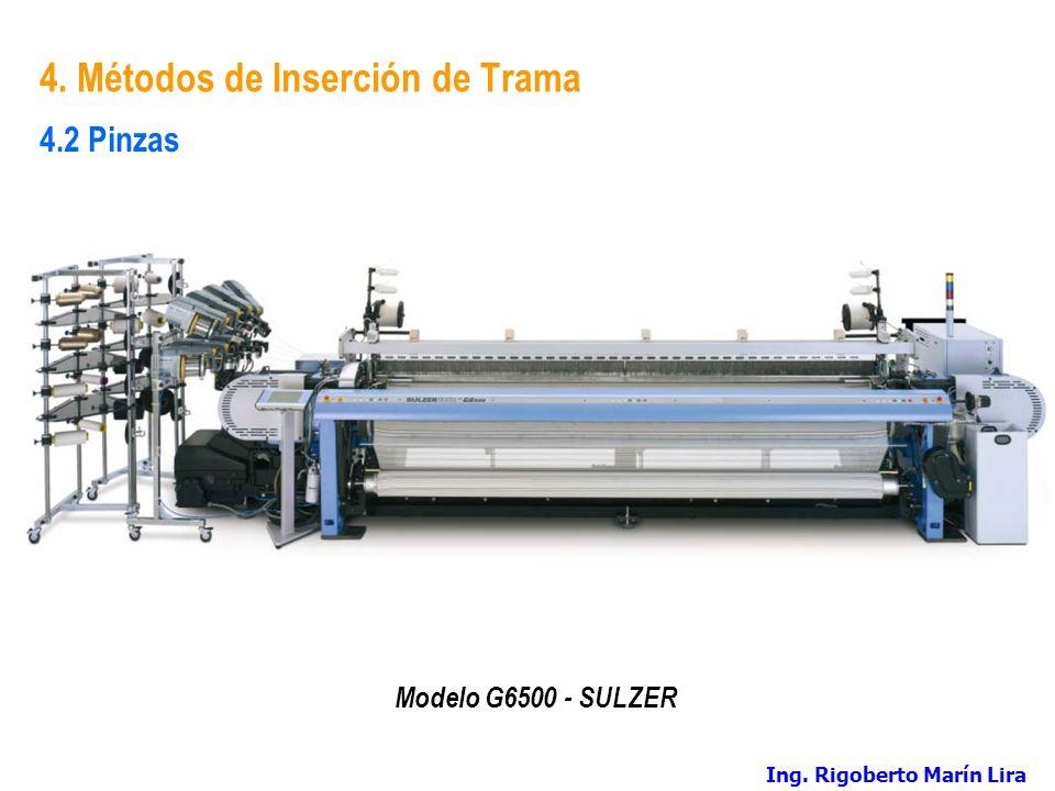 4. Métodos de Inserción de Trama Modelo G6500 - SULZER 4.2 Pinzas Ing. Rigoberto Marín Lira
