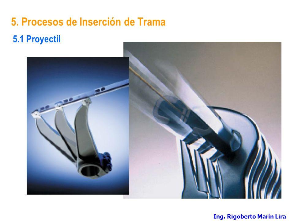 5. Procesos de Inserción de Trama 5.1 Proyectil Ing. Rigoberto Marín Lira